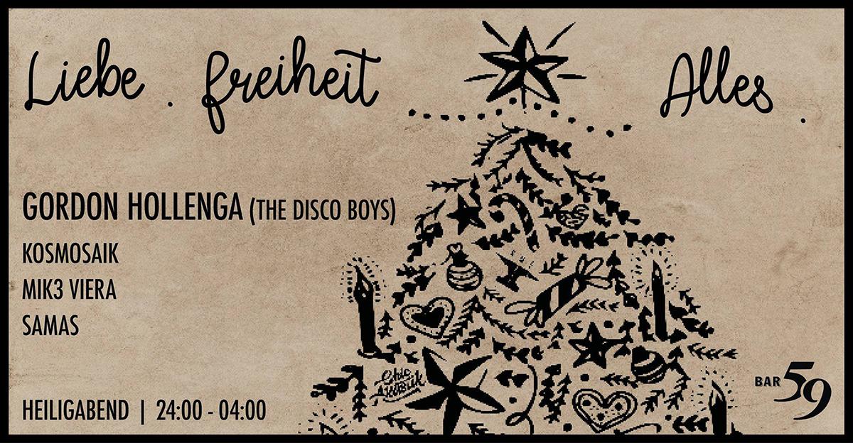 «Spread the love» heisst es an Weihnachten in der Bar59.