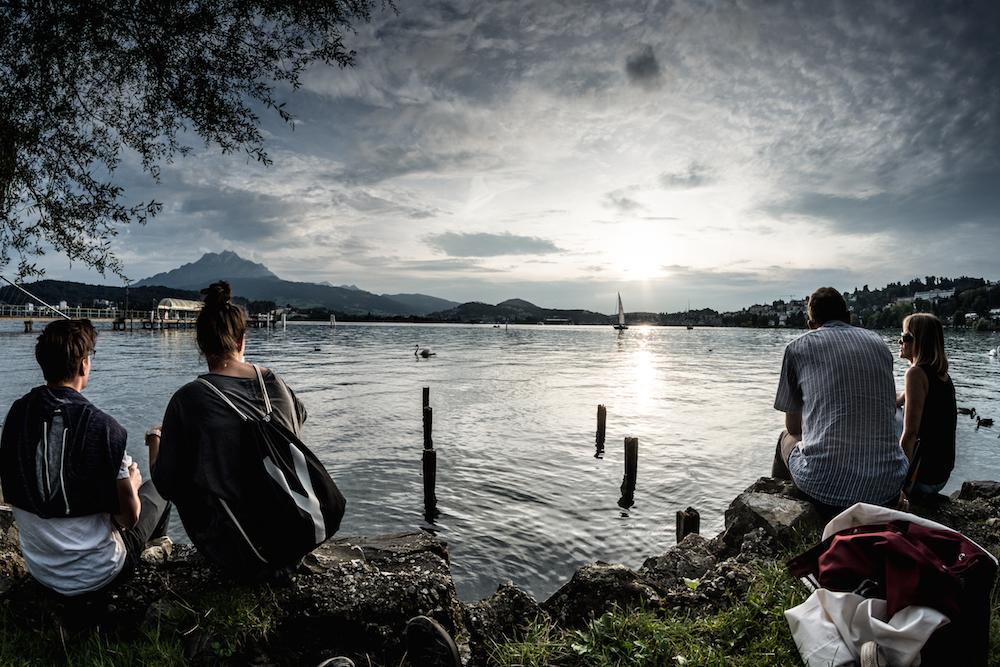 Funk am See: tolle Stimmung auf der Lidowiese mit Blick auf den Vierwaldstättersee.
