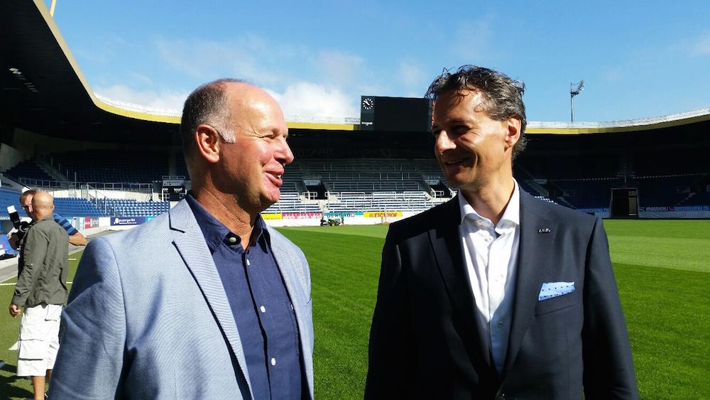 Sie sollen den FCL zum Erfolg führen: der neue CEO Marcel Kälin (links) sowie Vereinspräsident Philipp Studhalter (Bild: lwo).