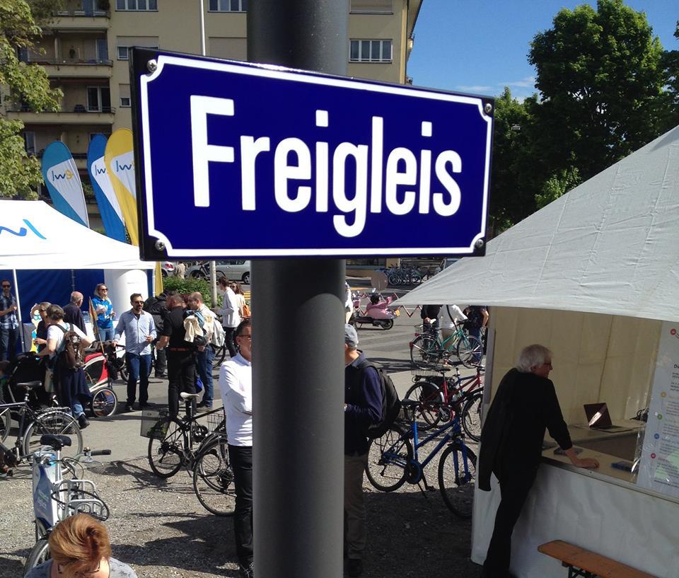 «Freigleis» heisst der neue Veloweg zwischen Luzern und Horw.