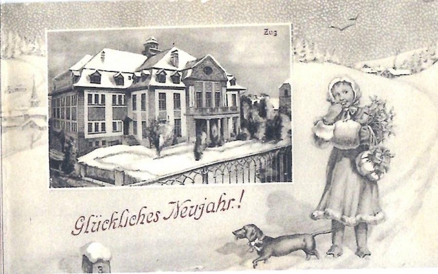 Schneewelten und Zug – die zweite wehr winterliche Postkarte.