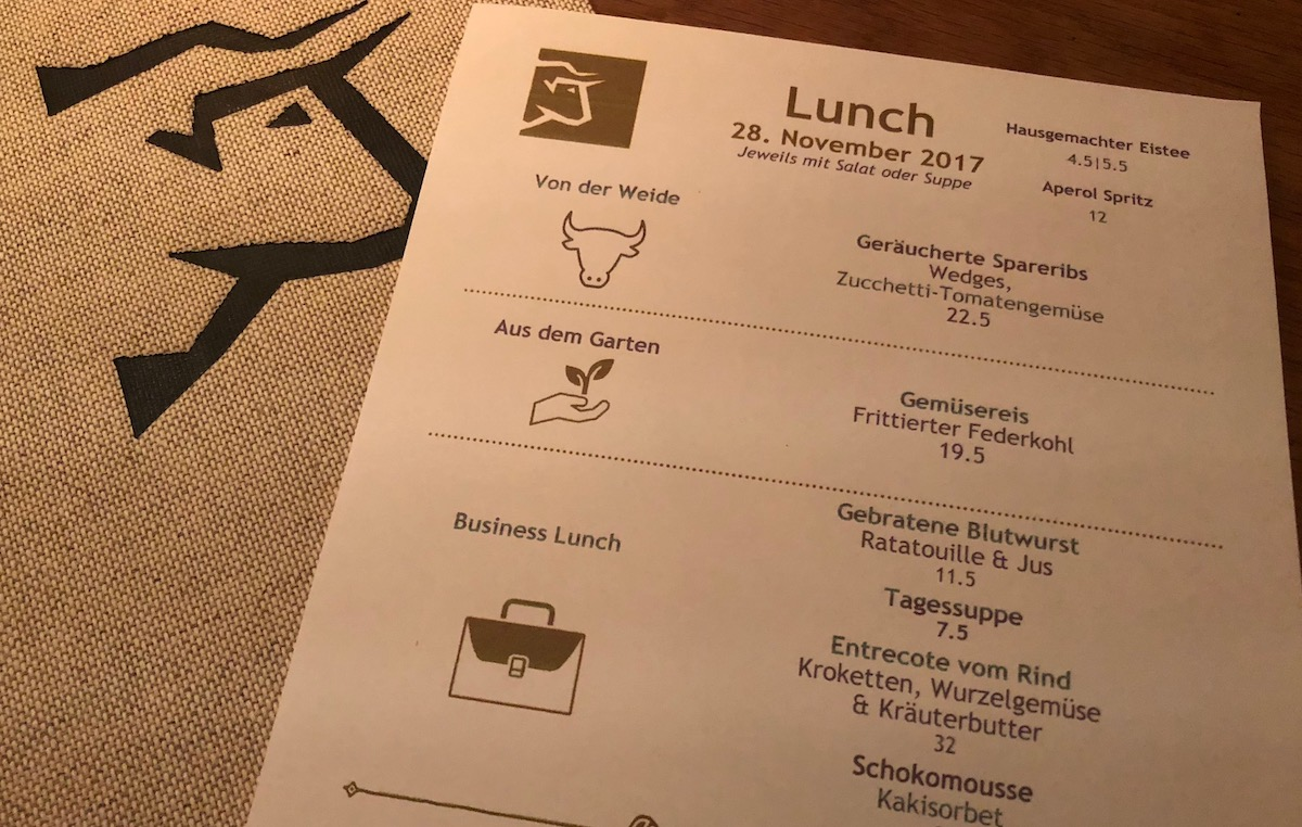 Drei Menüs für drei Geschmäcker: die Mittagskarte im OX'n.