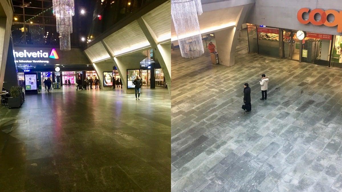 Wo sind die neuen Sitzgelegenheiten hin? Im UG des Bahnhofes herrscht am 3. Januar 2017 gähnende Leere.