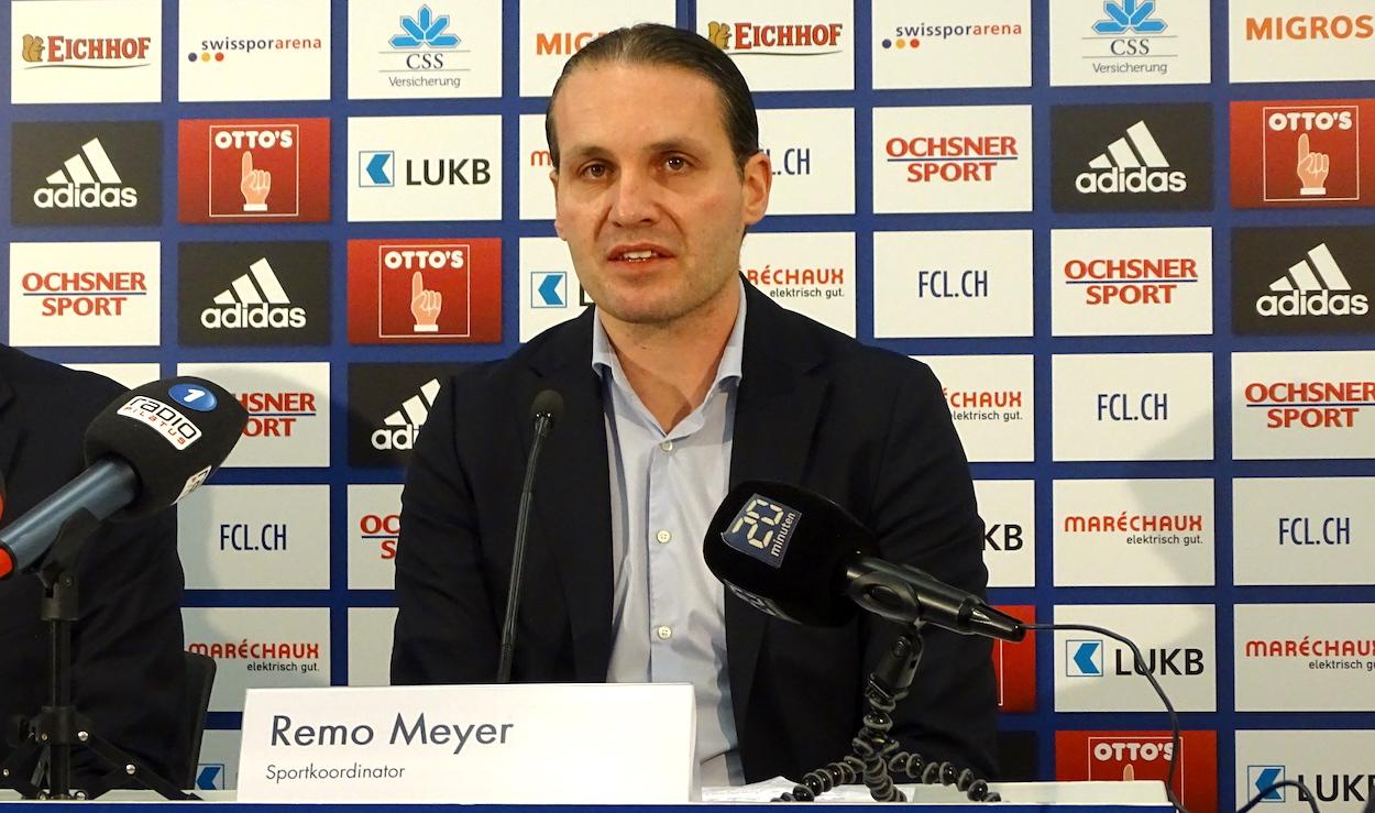 Sportchef Remo Meyer informiert über den neuen FCL-Trainer.