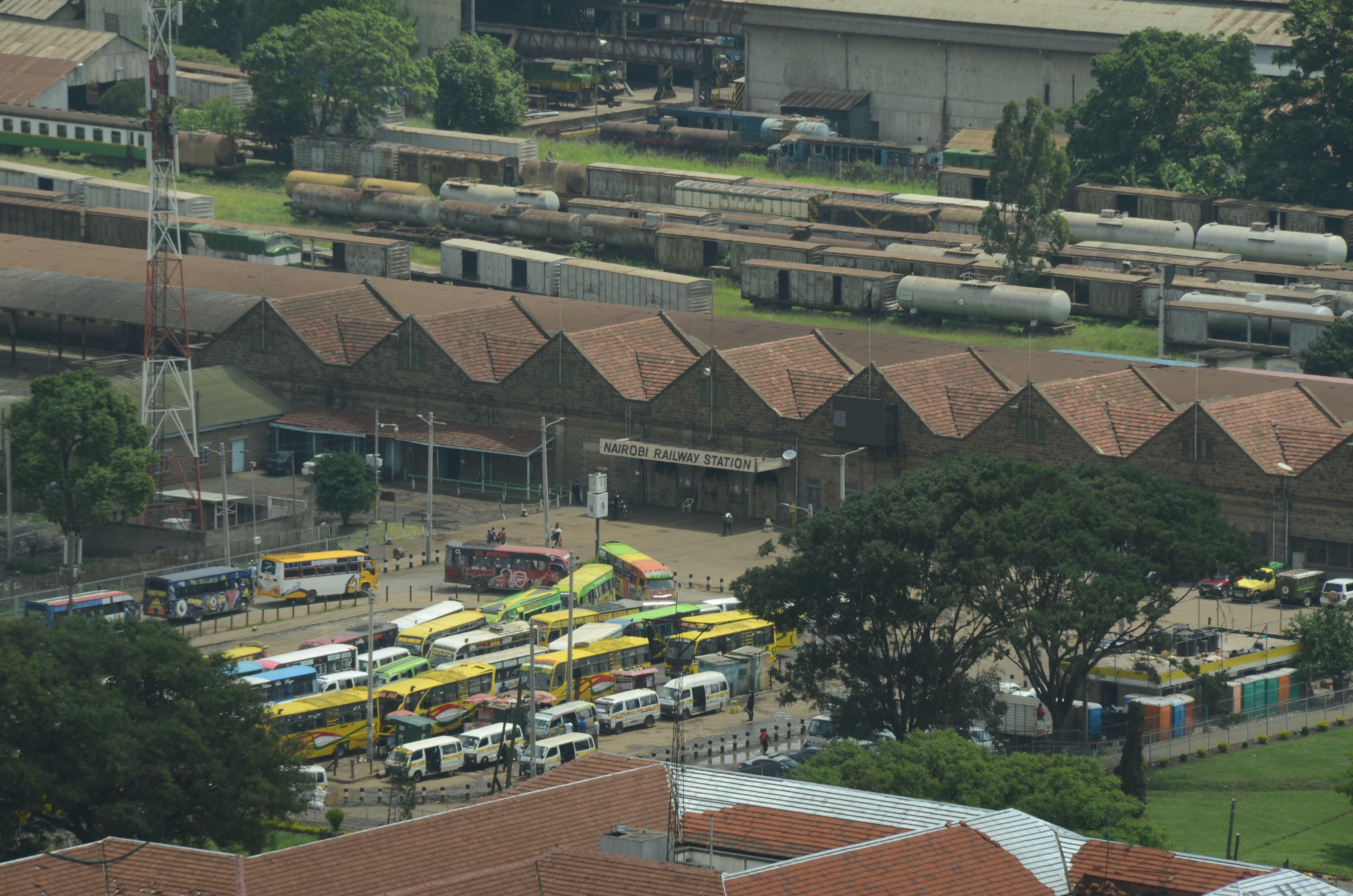 Der Busbahnhof im Zentrum von Nairobi.