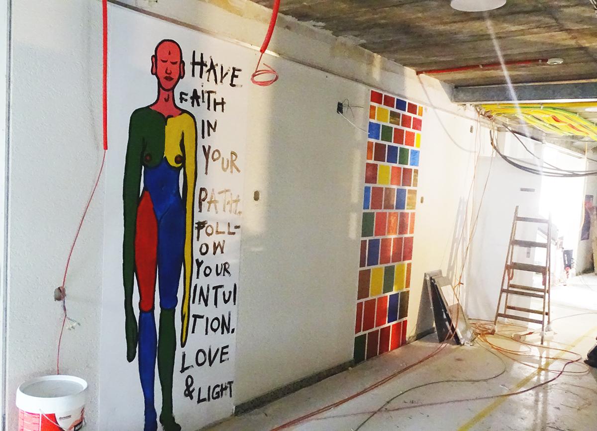Platz für kreative Köpfe: Die Wände dürfen und sollen auch bemalt werden.
