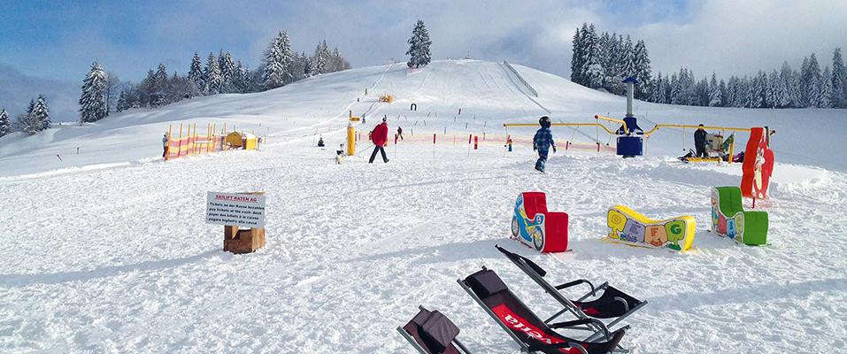 So sollte es aussehen: Der weisse Hang des Skilifts Raten in Oberägeri.
