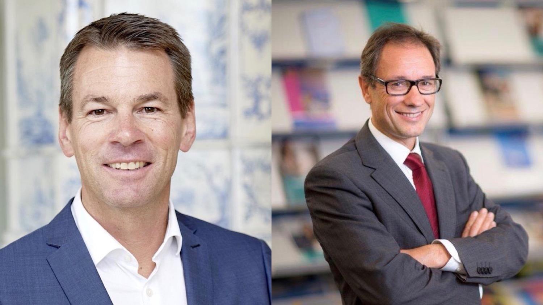IHZ-Direktor Felix Howald (links) und Christof Spöring, Leiter Dienststelle Berufs- und Weiterbildung beim Kanton.