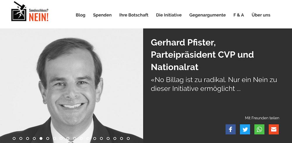 Der Zuger CVP-Nationalrat Gerhard Pfister ist ebenfalls Mitglied des Zuger Nein-Komitees.