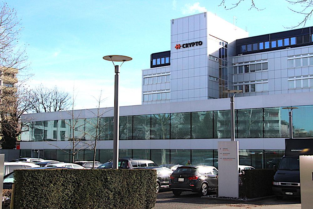 Noch ist ungewiss, ob eine der beiden neuen Gesellschaften der Crypto AG in Steinhausen bleiben wird. Die Immobilie wurde bereits im Dezember verkauft, und es besteht ein Mietvertrag bis 2018.