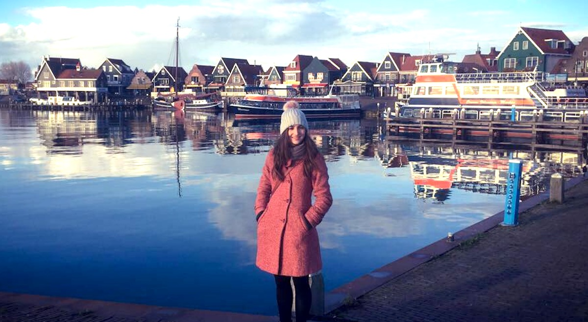 Studium im hohen Norden: Maria Charlotte Rast am Meer ausserhalb Amsterdams.