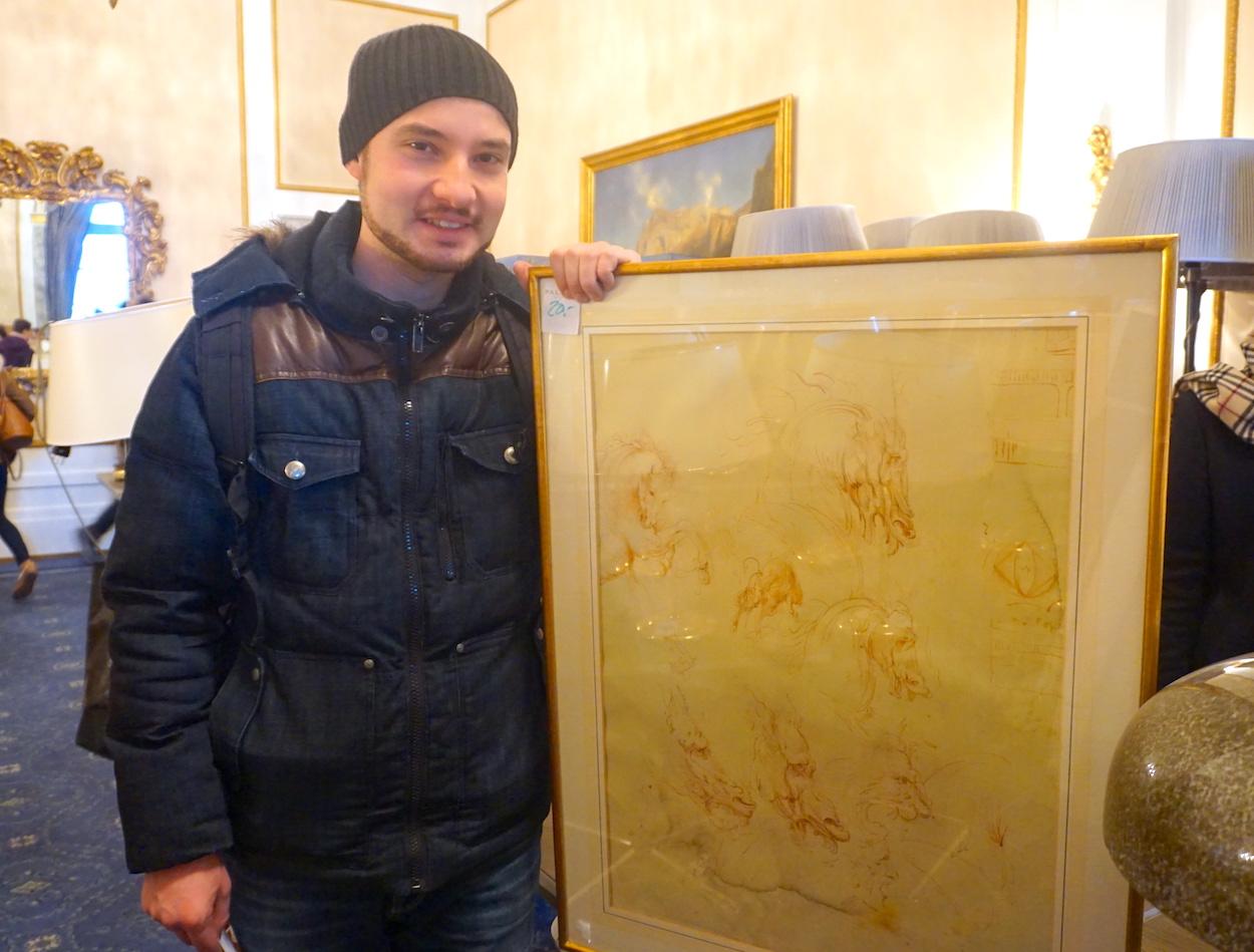 Philippe Ugolini hat ein Bild ergattert statt Silberbesteck.
