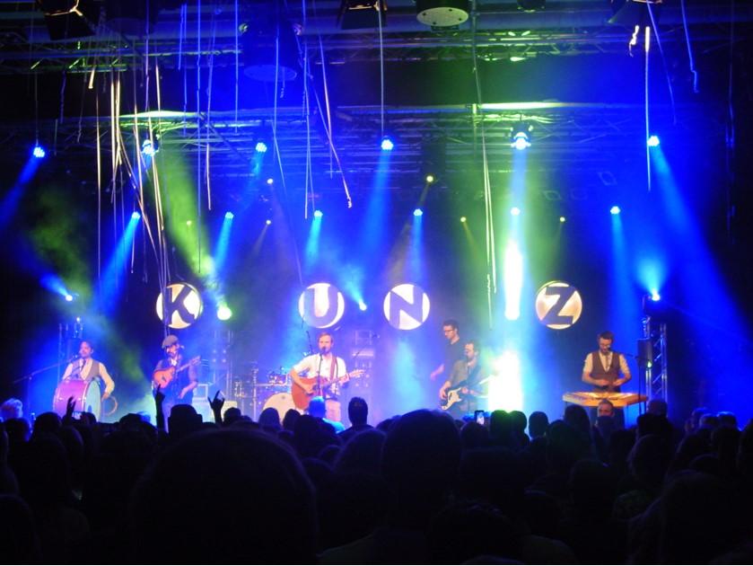 Die Kunz-Band in der ausverkauften Chollerhalle.