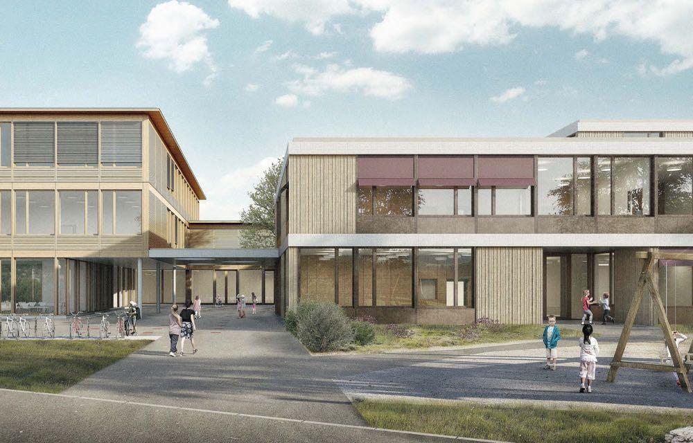 Durch das Projekt «Laurentia» wird das Riedmattschulhaus erweitert.