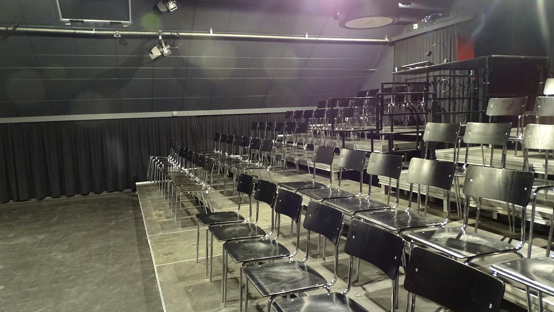 Bietet gut 130 Zuschauern Platz: Die Zuschauertribüne des Theaters am Märtplatz.