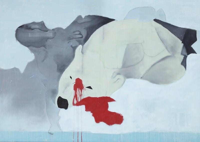 Die Kunst im Artikel stammt aus der kommenden Ausstellung «Karneval der Tiere» (siehe Box) Hier: Rolf Winnewisser, Eisbär
