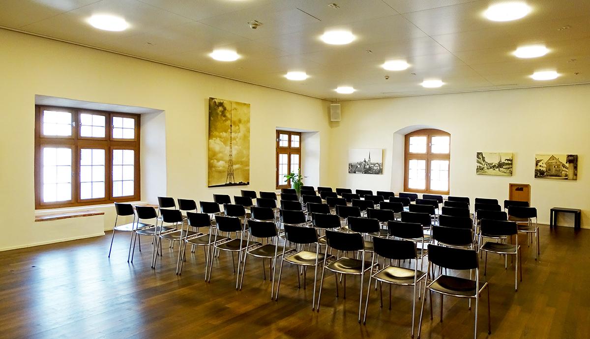 Der Festsaal im Stiftstheater Beromünster.
