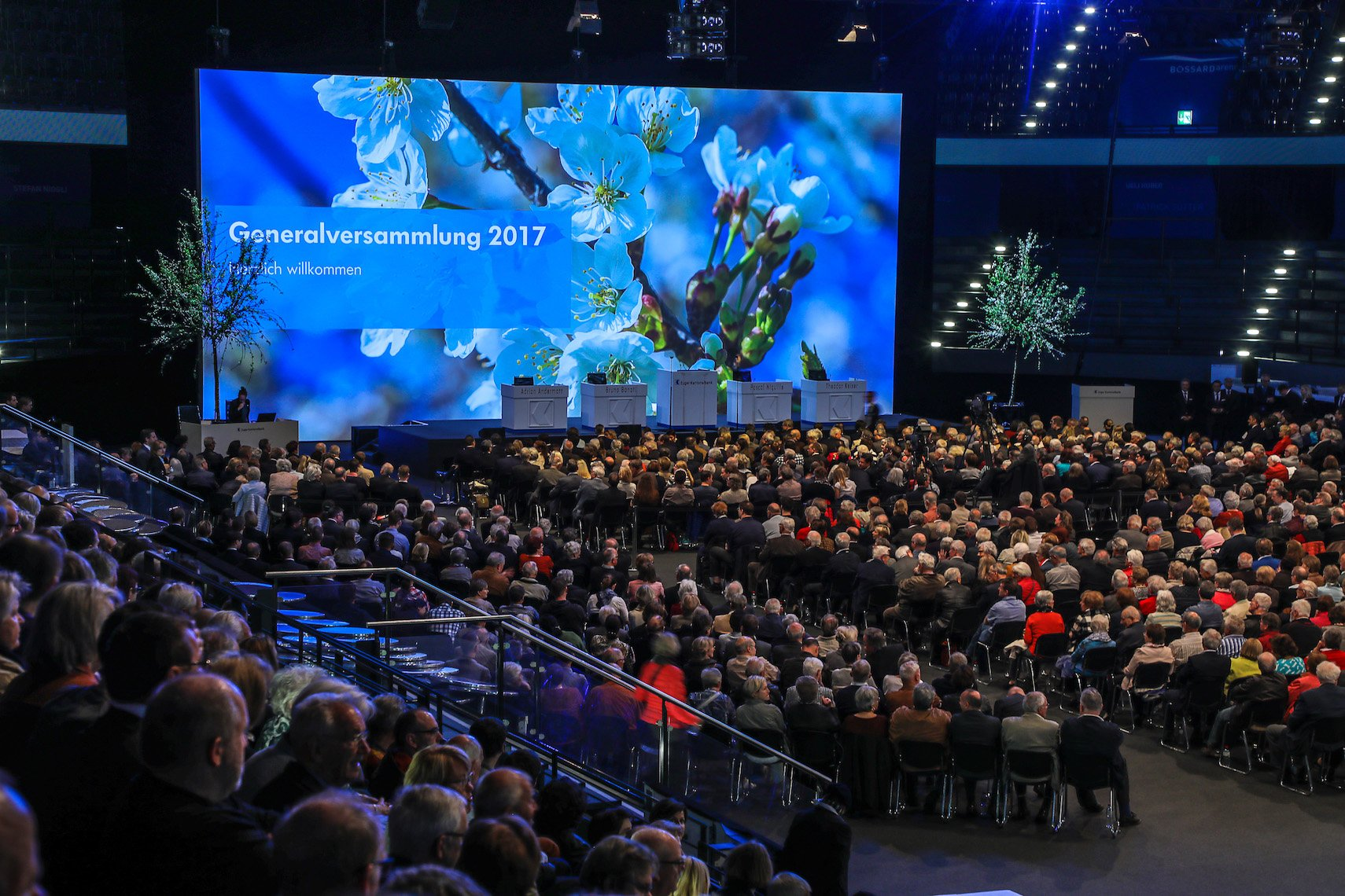 Auch ein gesellschaftliches Ereignis im Zugerland: Generalversammlung der Kantonalbank.