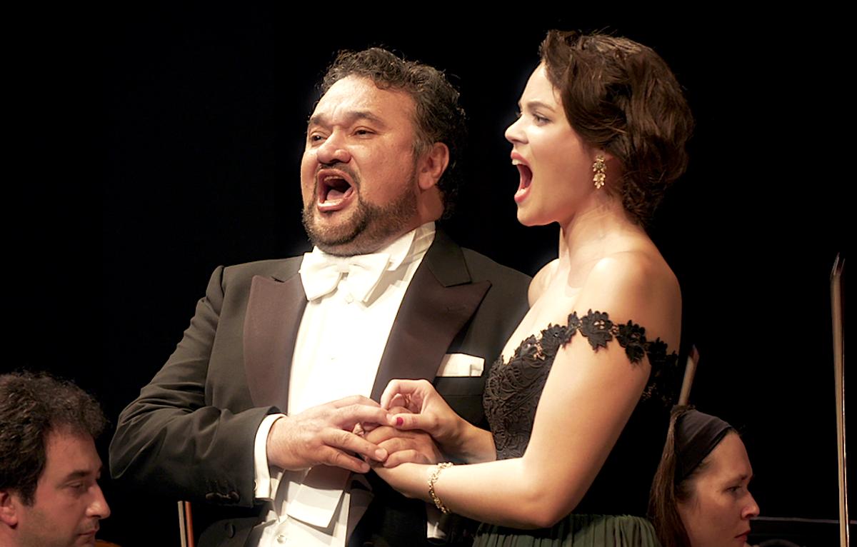 Sängerin der Elite: Regula Mühlemann mit Startenor Ramon Vargas.