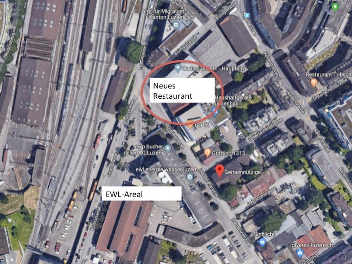 Der Standort des neuen Caritas-Restaurants an der Industriestrasse.