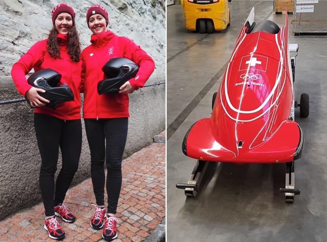 Die beiden sind für die Olympischen Spiele ausgerüstet, der mehr als 170 Kilogramm schwere Schlitten wurde bereits nach Südkorea geflogen.