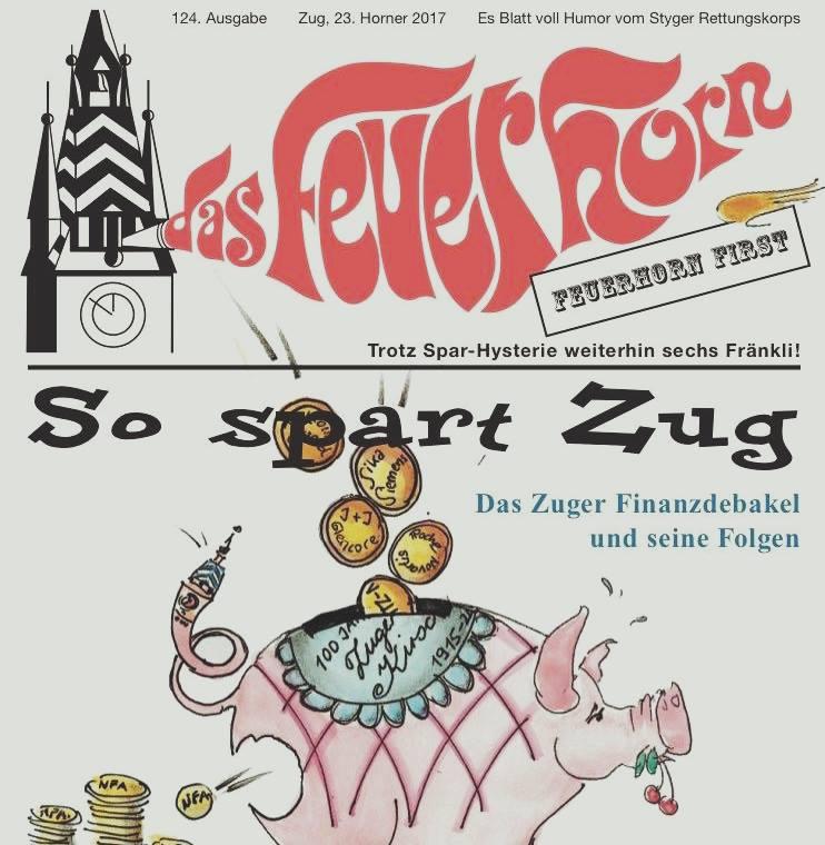 Das Cover des Feuerhorns 2017. Spiess-Hegglin suchte man in dieser Ausgabe vergebens.