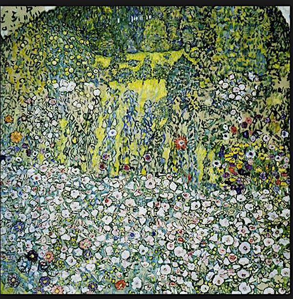 Ebenfalls ein Klimt aus dem Zuger Kunsthaus: «Gartenlandschaft mit Bergkuppe» von 1916.