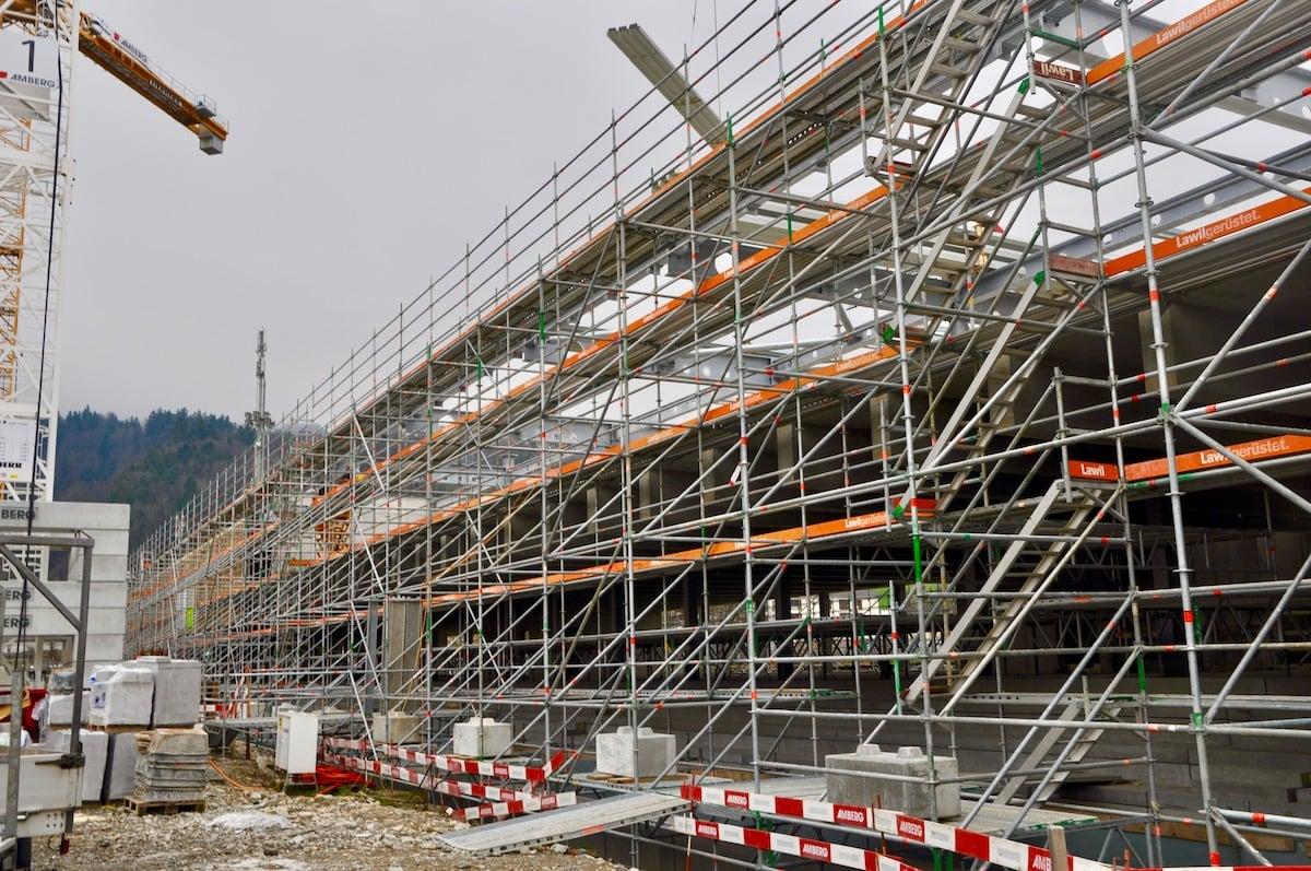 Das Sportzentrum in Kriens könnte sogar noch höher sein.