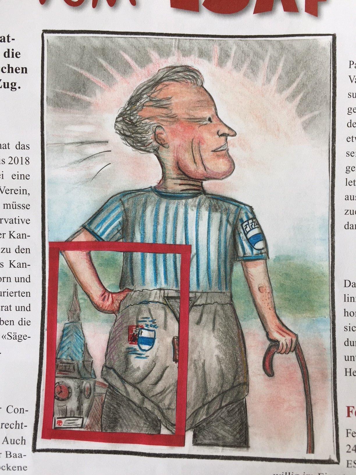 Hat Heinz Tännler als Fotomodell herhalten müssen?