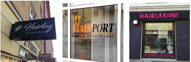 Mit «Hair» lassen sich ganz heisse Kombinationen erschaffen. Leider nicht aus Luzern – trotzdem witzig. (Fotos: Instagram #Friseurnamen)