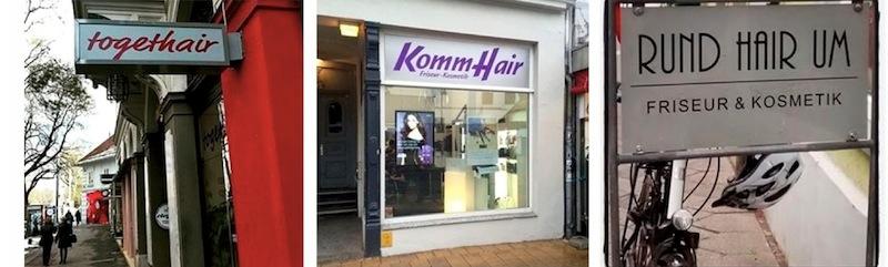 Komm hair … Leider nicht aus Luzern – trotzdem witzig. (Fotos: Instagram #Friseurnamen)