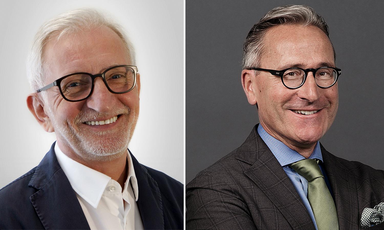 Joachim Freiberg (links) und Jürg Weber – Leiter elektronische Medien der Zentralschweiz und der Leiter Regionalmedien bei der NZZ.