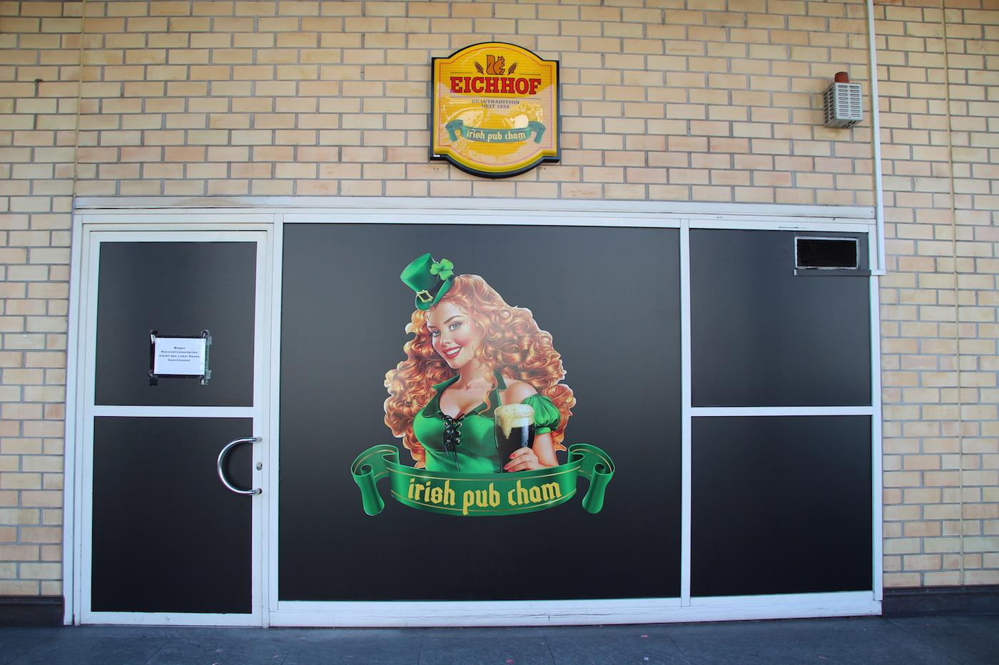So sieht das neue Irish Pub in Cham von aussen aus. Davor war ein Spielsalon in der Lokalität beheimatet.