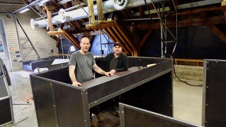 Marcel Odermatt (links) und Hannes Mummenthaler im «Monolith».