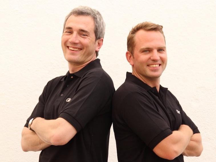 Die Gründer Toni Vera (links) und Viktor Meier.