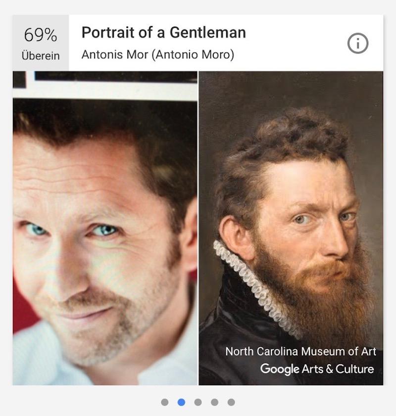 Hier kann der Zuger Schauspieler Samuel Streiff schon sehen, ob ihm ein längerer Bart stehen würde.
