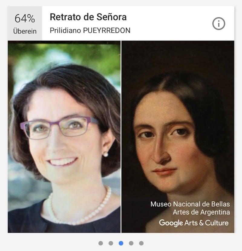 Frisurtechnisch steht das Gemälde-Pendant der Regierungsrätin Manuela Weichelt sehr nah.
