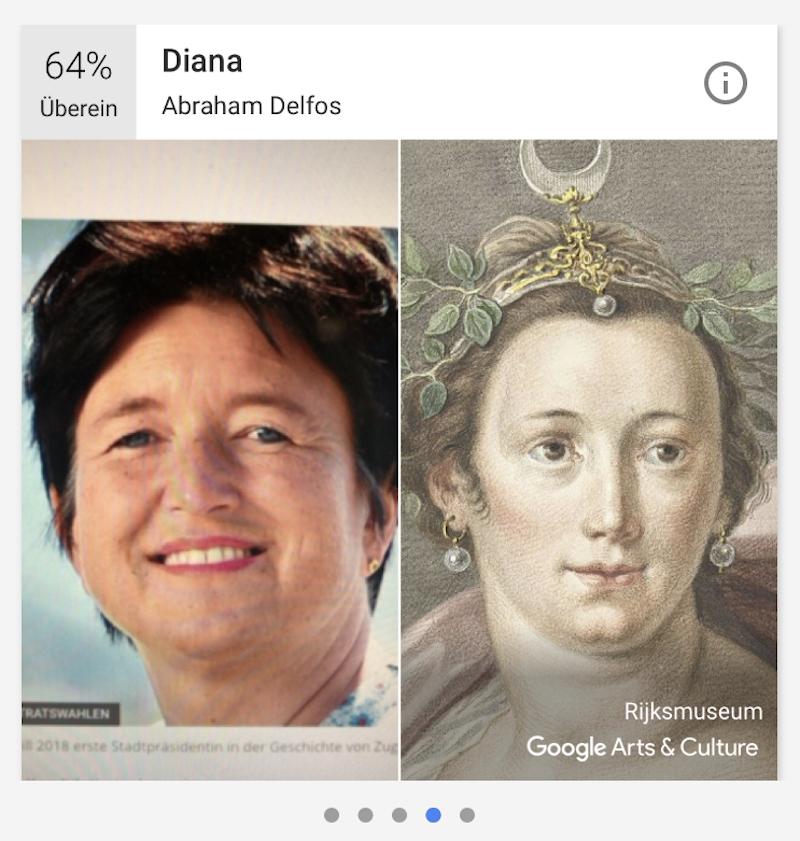 Die Doppelgängerin von Stadträtin Vroni Straub stammt aus der römischen Mythologie, findet Google.