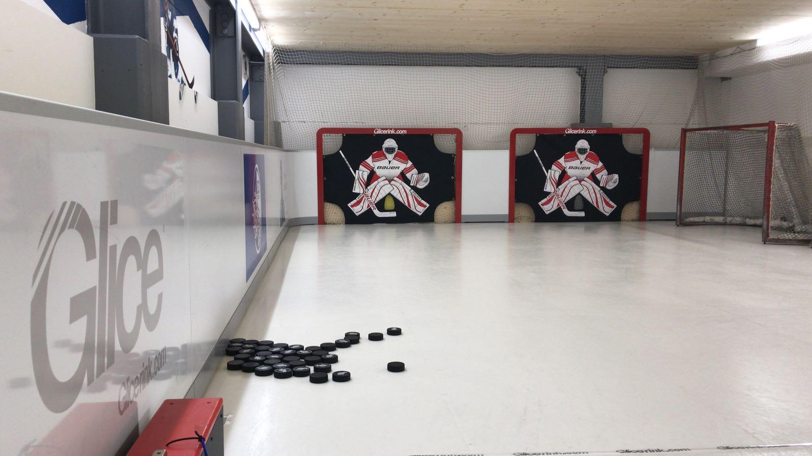 Der neue Trainingsplatz des HC Luzern besteht aus Kunsteis.