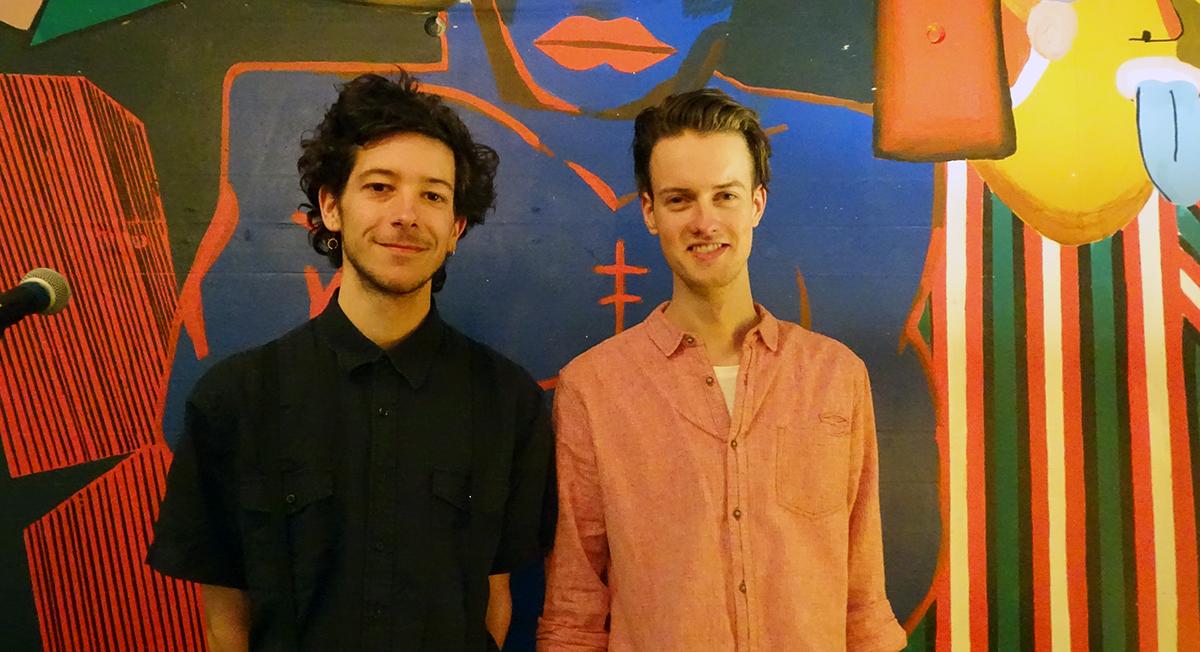 Claudio Näf und Niels Eberhardt, die bei der Organisation der «Milchbar» mit dabei waren.