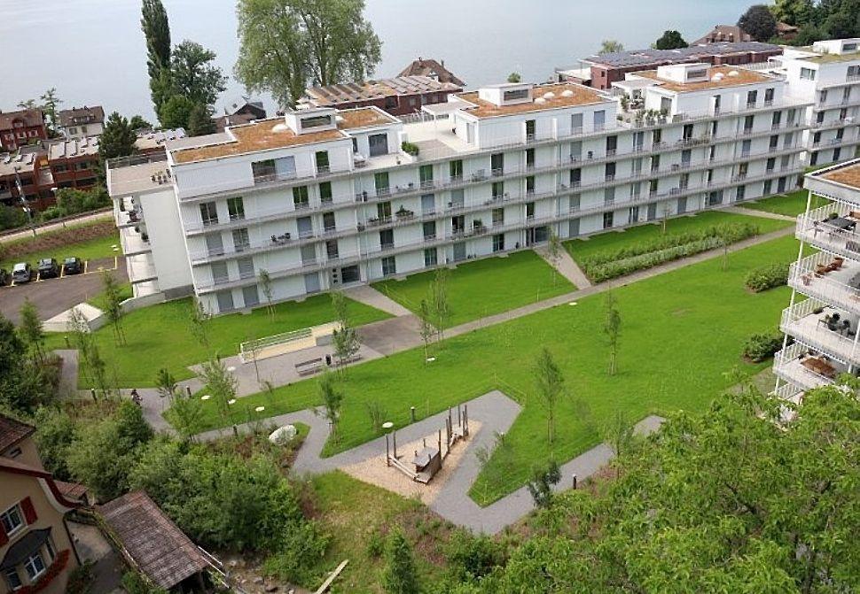 Preisgünstiger Wohnungsbau: Die vom Regierungsrat als Beispiel herangezogene Überbauung Roost in der Stadt Zug.