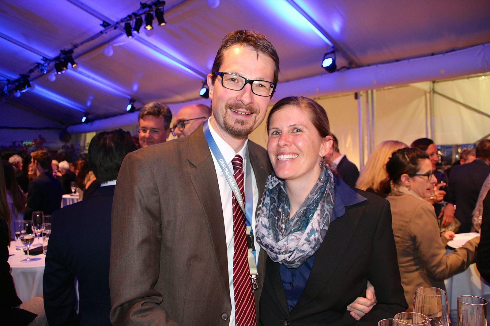 Stadtrat Urs Raschle mit Gattin Sarah.