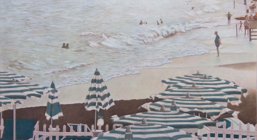 Dieses Bild von Myriam Arnelas trägt den Titel «am Meer».