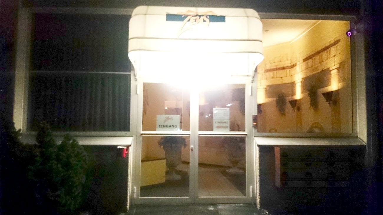 So sieht der Eingangsbereich des Saunaclubs aus.