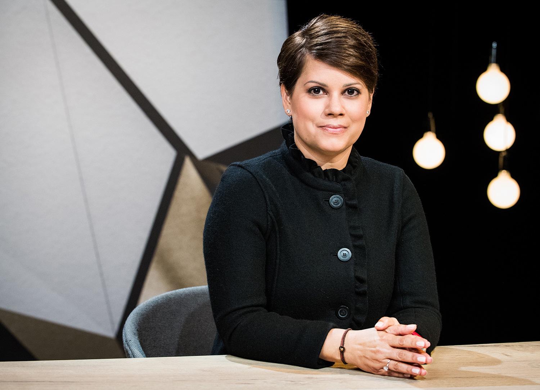 Sita Mazumder ist gern gesehener Gast in Radio und Fernsehen – wie hier: Sie traf in der SRF-Sendung «Focus Blind Date» auf SP-Nationalrat Matthias Aebischer.