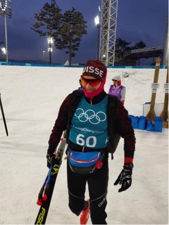Ueli Schnider kurz vor seinem ersten Einsatz an Olympia