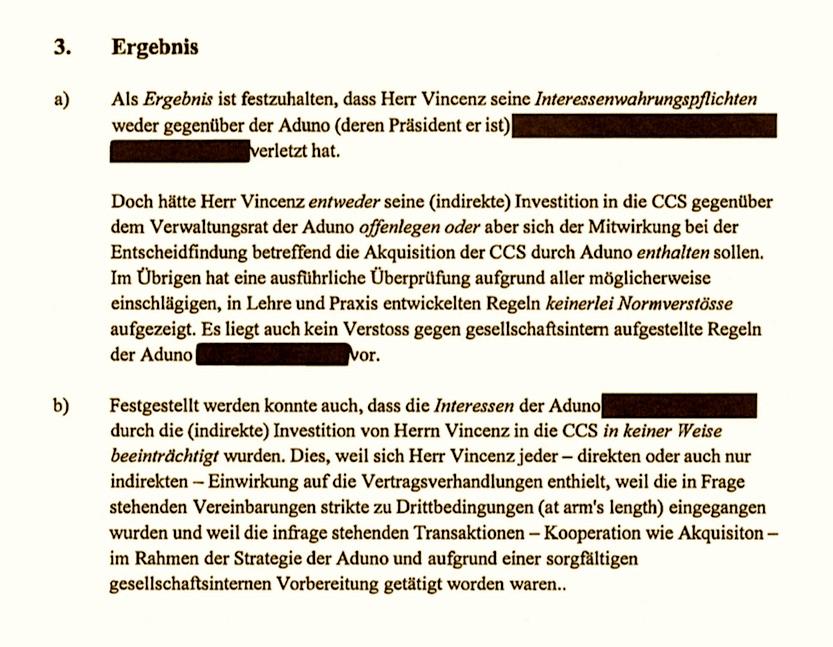 37-seitiges Gutachten, Schwärzungen durch Raiffeisen: Pascal Niquille verliess sich auf die Zusammenfassung.