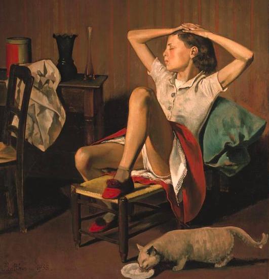 «Thérèse dreaming», 1938, von Balthus.