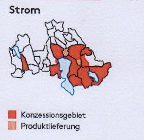 Rot markiert sind die Gebiete, in denen die WWZ ihr Magazin verteilt.