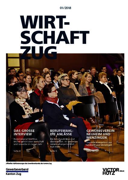 Auch das Hausmagazin des Gewerbeverbands Kanton Zug flattert regelmässig in alle Zuger Haushalte.